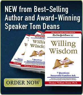 Buy Willing Wisdom - the new book from best-selling author and award-willing speaker Tom Deans